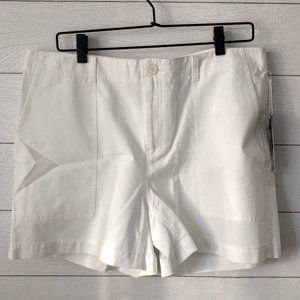 Nordstrom Signature White Cotton Shorts 14 NWT
